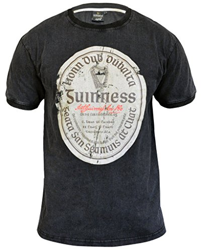 Offizielle Guinness® Handelsware Guinness® T-Shirt mit Dem Gaelischen Etikett IM Vinatge-Look