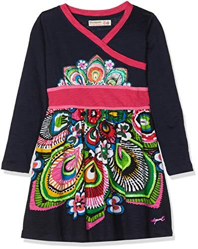 Desigual Mädchen Kleid Vest_MADISON-18WGVK545, Blau (Navy 5000), 152 (Herstellergröße: 11/12)