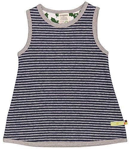 loud + proud Baby-Mädchen Kleid Ringel, Blau (Midnight/Natural Mi/Na), 80 (Herstellergröße: 74/80)