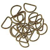 MagiDeal 100pcs Demi Anneau Métal DIY Boucle Pour Ceinture Sac à Main Crochet Collier De Chien - Bronze, 25x14x2.8mm