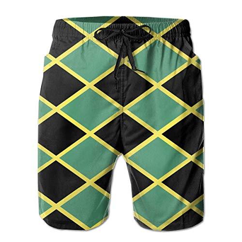 Men Swim Trunks Jamaica Flag Beach Bathing Suit Casual Athletic Shorts Quick Dry Swim Briefs for Summer,Size:L - Hi Leg Brief