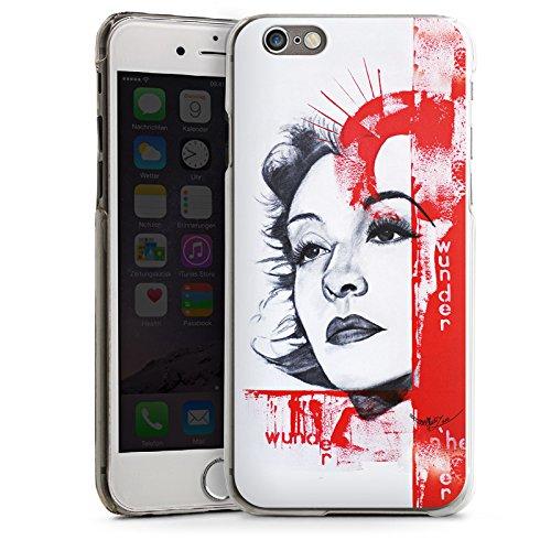 Apple iPhone 6 Housse Étui Silicone Coque Protection Zarah Leander Dessin Femme CasDur transparent