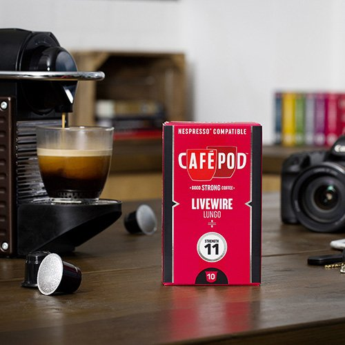 Get CafePod Livewire Pack Of 10 Nespresso Compatible Coffee Capsules by CafePod