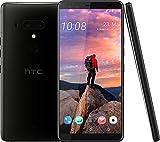 HTC U12+ Smartphone (15,24 cm (6 Zoll) Super LCD-Display, 64 GB interner Speicher und 6 GB RAM, Wasserdicht nach IP68, Dual-SIM, Android 8.0), Ceramic Black