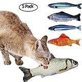 Tacobear 5Stk. Katzenminze Spielzeug Baldriankissen Baldrian Fisch für Katze Kitty Kätzchen Katze...