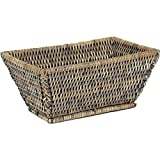 Brotkorb aus Rattan, antik