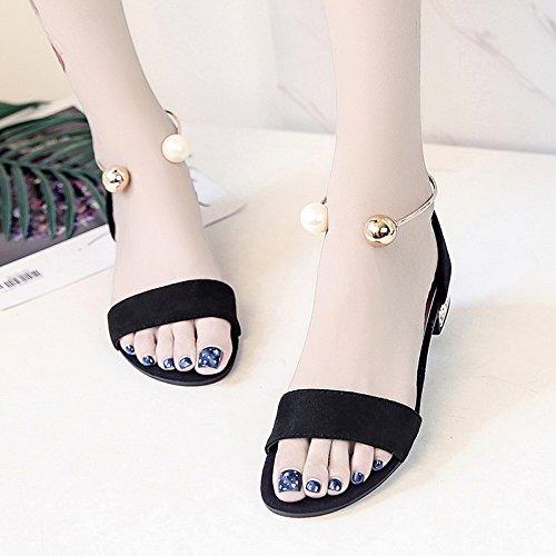 XY&GKDonna Sandali scarpe da punta scarpe Studentessa estate, 35, Grigio,con il migliore servizio 39black