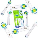 8 Stück 3DWhite Aufsteckbürsten für Oral B,die Bürstenköpfe wurde nach dem Vorbild professioneller Reinigungsgeräte entwickelt und sorgt für eine zahngenaue Reinigung,Ersatzbürsten von ITECHNIK