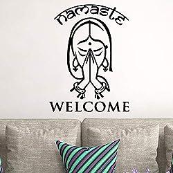 Nouvel Islam Bienvenue Mur Art Decal Stickers Muraux PVC Matériel pour Salon Chambre Vinyle Art Stickers Noir XL 58 cm X 80 cm