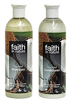 Faith In Nature Coconut Shampoo 400ml & Conditioner 400ml Duo by Faith In Nature