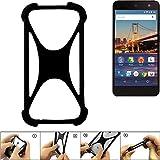 K-S-Trade Handyhülle für General Mobile 4G Schutz Hülle Silikon Bumper Cover Case Silikoncase TPU Softcase Schutzhülle Smartphone Stoßschutz, schwarz (1x)