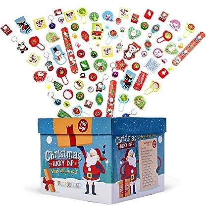 Juego de 100 Juguetes de Navidad Surtidos – Excelente para regalos y premios de fiesta de Navidad para niños.
