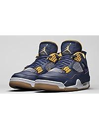 Nike - Air Jordan 4 Retro - Color: Amarillo-Azul marino - Size: 42.5