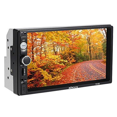KKmoon 7Inch Double 2 Din Voiture Autoradio HD Lecteur BT DVD / CD / USB / AUX-IN / TF FM Multimédia Radio Système de Divertissement