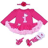 BabyPreg® Bebé Niña 4pcs Corona Patrón de Primer cumpleaños para Vestido ...