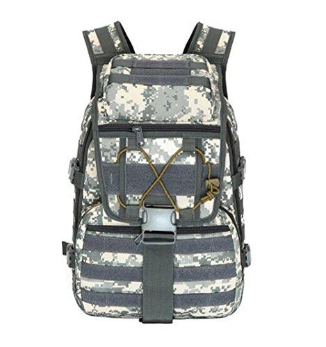 GOUQIN Outdoor Rucksack Klassische Mode Outdoor Reisen Zwei Shoulder Bag Safari Sport Rucksack Pc 20-35 L Wasserdichte Taschen Klettern 1 Camouflage