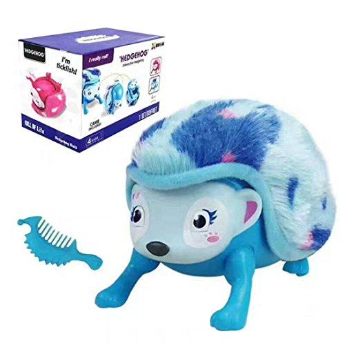 Niedlich Igel Mit Lichter Geräusche Sound Und Sensors elektronisch Spielzeug Pädagogisches Spielzeug Für Kinder Holeider (Blau)