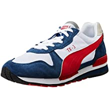 PUMA ZAPATILLAS DE DEPORTE TX-3 HOMBRE, WHITE/DARK DENIM/HIGH RISK RED, COLOR BLANCO (TALLA EUR 42)