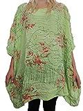 Tolle Damen Blusen Shirts mit schönem Muster Größe 54 56 58 60 62 (Apfelgrün)