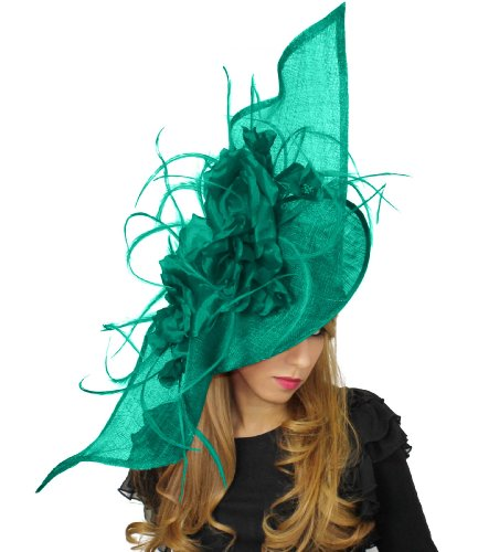 Hats By CressidaDamen Stirnband Grün Jade Green (Derby-kirche Hat)