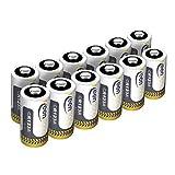 12 St. CR123A CR17345 Batterien, Keenstone 3V 1400 mAh Lithium Einwegbatterie für Taschenlampe, Kamera, Intelligente Instrumentierung, Mikrofone usw. [nicht wiederaufladbar]