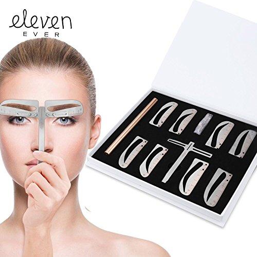 Eleven nunca Cejas Stencil Regla Kit–incluye