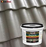 Dachfarbe Sockelfarbe Dachbeschichtung Dachlack Dachsanierung Polymermembran 4 kg Steingrau