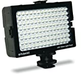 Polaroid 112 Bulb LED Video Camera Light with Cold Shoe Mount and Adjustable Dimmer for Universal Camera and Camcorders