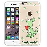 JuSha Coque iPhone 6 Plus / 6S Plus Transparent Vert Petit Dinosaure Silicone Doux...