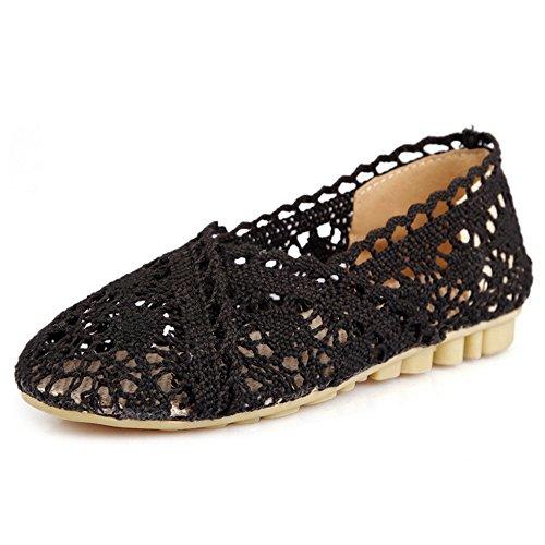 COOLCEPT Damen Mode Slip On Pumps Geschlossene Flach Schuhe