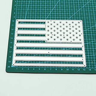 American Flag DIY Metal Cutting Die Scrapbooking Decor Album Embossing Stencil - Silver