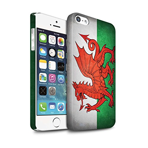 Clipser Matte Coque de Stuff4 / Coque pour Apple iPhone 5/5S / Chili/Chiliean Design / Drapeau Collection Pays de Galles/gallois