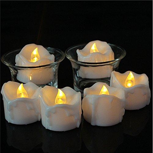LED Kerzen, Zuoao Flammenlose Kerzen Batteriebetriebene im 12er Set mit Timerfunktion, Echt Flammen Effekt Flackernde Teelichter 6 Stunden auf und 18 Stunden Off für Weihnachtsdeko, Hochzeit, Party (Halloween-sicherheit über Fakten)