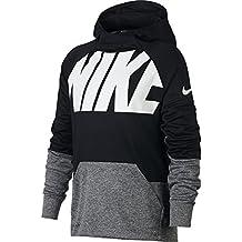 Nike B Nk Thrma Hoodie Po Gfx Sudadera, Niños, Negro (Black/Carbon Heather), L