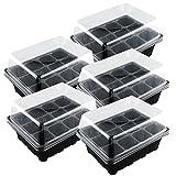 YAHAMA 5 Stücke Keimgerät Kresse-Sieb Keimschalen Sprouter Tray Anzuchtschale Sämlinge Pflanzen-12 Zelle