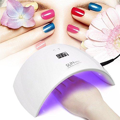 Lampada LED Unghie 36W 18 UV LED Fornetto Unghie Nail Dryer Professionale per Manicure con USB (Bianco) - Duomishu