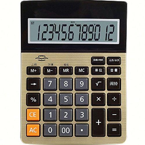 GJJ Rechner-Doppel-Ic-Sprachrechner-Shop-Büro-Lager - Arithmetische Berechnung Artefakt,Gold,A