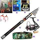 Best Fishing Rods And Reels - BNTTEAM 5 PACKS 2.1m,2.4m,3.0m 99% Carbon Telescopic Fishing Review