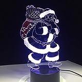 Santa Claus Licht Nachtlicht für Kinder Geschenk Touch Tischlampe als Weihnachtsbeleuchtung
