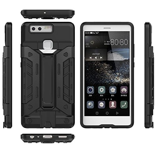HUAWEI Case Cover HUAWEI P9 Cover, 2 In 1 Neue Rüstung Tough Style Hybrid Dual Layer Defender PC Hard Back Cover Stoßfestes Gehäuse mit Kartenfach Für HUAWEI P9 ( Color : 9 , Size : HUAWEI P9 ) 9