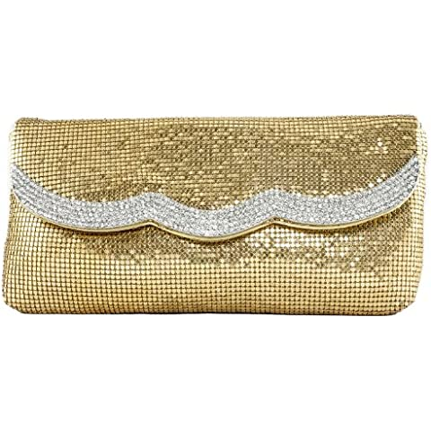 Girly HandBags Nuovo Diamante In Rilievo Pochette Cotta Di Maglia