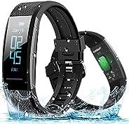 ELEGIANT Pulsera de Actividad Inteligente Reloj Deportivo IP67 para Hombre Mujer con GPS Monitor de Sueño Podó