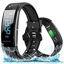 ELEGIANT Fitness Tracker, IP67 Waterproof Activity Tracker Heart Rate Monitor Smartwatch with Exercise Modes Sleep Monitor with Route Tracking Pedometer Step Counter with for Android IOS Smartphones