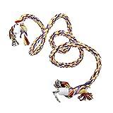 Sharplace 1.4m Seil Sitzstange Vögel Spielzeug für Wellensittich Sittiche Papageien Vogelkäfig