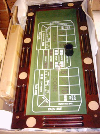Kunibert Pokerspieltischbar - Poker/Roulette/Würfel/Blackjack/Theke - 3