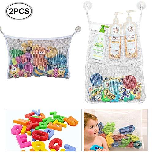 Bad Spielzeug Netz, 2 x Badewanne Spielzeugnetz, Badezimmer Lagerung, Badewannennetz, Badespielzeug, Badorganizer,Mesh Bad Spielzeug Organizer, Multi-Use-Dusche Taschen machen