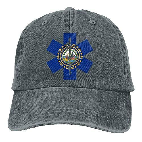 Voxpkrs Flag of New Hampshire EMT Unisex Baseball Cap Cowboy Hat Dad Hats Trucker Hat ABCDE09509