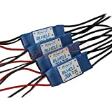 Hobbypower BLHeli 20A controlador de velocidad Brushless ESC 2–4S para Quadcopter F450X525(Pack de 4unidades)