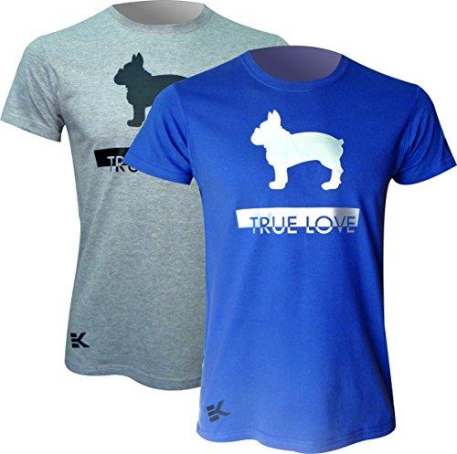 Camiseta Bulldog FRANCÉS True Love EKEKO, Manga Corta, de Algodon, Muy Comoda y...