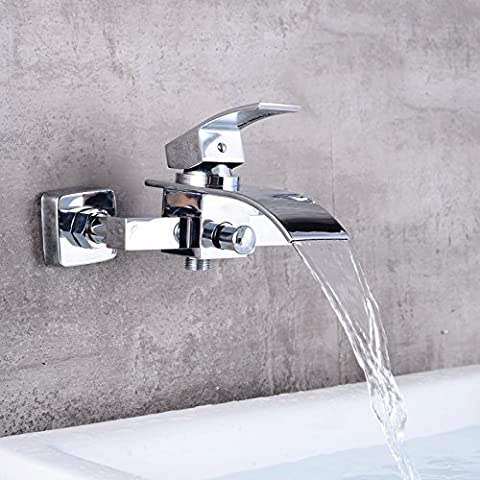 Deluxe Faucet Basin Tap Bathroom Faucet Brass Chrome Bathtub Faucet Wall Mounted Waterfall Faucet Lh-8041